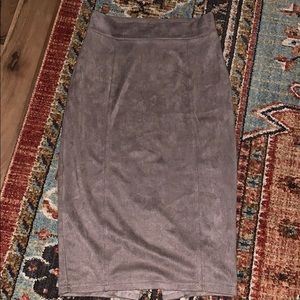 Suede midi pencil skirt. Size small